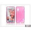Haffner LG E460 Optimus L5 II szilikon hátlap - S-Line - pink