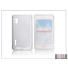 Haffner LG E610 Optimus L5 szilikon hátlap - S-Line - fehér