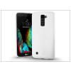Haffner LG K10 K420N szilikon hátlap - Jelly Bright 0,3 mm - fehér