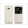 Haffner Microsoft Lumia 540 S-View Flexi oldalra nyíló flipes tok - fehér