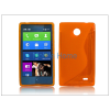Haffner Nokia X/X+ szilikon hátlap - S-Line - narancs