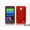 Haffner Nokia X/X+ szilikon hátlap - S-Line - piros