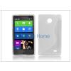 Haffner Nokia X/X+ szilikon hátlap - S-Line - transparent