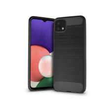 Haffner Samsung A226B Galaxy A22 5G szilikon hátlap - Carbon - fekete tok és táska