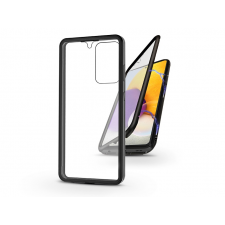 Haffner Samsung A725F Galaxy A72 LTE/A726B Galaxy A72 5G mágneses, 2 részes hátlap előlapi üveggel - Magneto 360 - fekete tok és táska