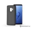 Haffner Samsung G960F Galaxy S9 szilikon hátlap beépített fémlappal - Soft Magnetic - fekete