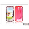 Haffner Samsung i9500 Galaxy S4 szilikon hátlap - piros - S-Line