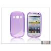 Haffner Samsung S6810 Galaxy Fame szilikon hátlap - S-Line - lila