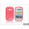 Haffner Samsung S6810 Galaxy Fame szilikon hátlap - S-Line - piros