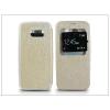 Haffner Samsung SM-G920 Galaxy S6 S-View Flexi oldalra nyíló flipes tok - golden