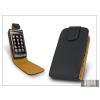 Haffner SLIGO flipes bőrtok - Samsung S5620 Monte - fekete