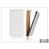 Haffner Slim Flip bőrtok - Apple iPhone 5/5S - fehér
