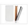 Haffner Slim Flip bőrtok - Samsung SM-G800 Galaxy S5 Mini - fehér