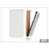 Haffner Slim Flip bőrtok - Samsung SM-G900 Galaxy S5 - fehér