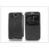 Haffner Sony Xperia E4 (E2104/E2105) S-View Flexi oldalra nyíló flipes tok - fekete