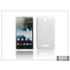 Haffner Sony Xperia E (C1505) szilikon hátlap - S-Line - fehér