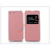 Haffner Sony Xperia M5 (E5603/E5606/E5653) S-View Flexi oldalra nyíló flipes tok - pink