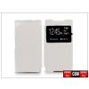 Haffner Sony Xperia Z5 Compact (E5803) S-View Flexi oldalra nyíló flipes tok - fehér