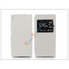 Haffner Sony Xperia Z5 S-View Flexi oldalra nyíló flipes tok - fehér