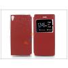 Haffner Sony Xperia Z5 S-View Flexi oldalra nyíló flipes tok - piros