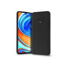 Haffner Xiaomi Redmi Note 9 Pro/Note 9 Pro Max/Note 9S szilikon hátlap - Soft Premium - fekete mobiltelefon, tablet alkatrész