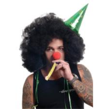 Hair Club Mega Afro mikrofon party paróka, fekete jelmez