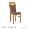 Halmar Citrone fa étkező szék