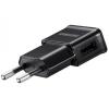 Hálózati töltő adapter, 5V / 2A, USB aljzat, kábel NÉLKÜL, Samsung, fekete, gyári, ETA-U90EBEGSTD