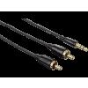 Hama 122302 3,5 mm Jack - RCA összekötő kábel 1,5 m