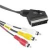 Hama 43178 összekötő kábel st av összekötőkábel scart-3RCA BE/KI 2,0M