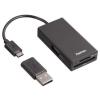 Hama 54141 USB 2.0 OTG HUB és kártyaolvasó