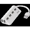 Hama fehér 4 portos USB 2.0 HUB (12178)