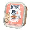 Happy Cat Duo pástétomos falatkák - Baromfi és lazac 6 x 100 g