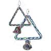 Háromszög alakú madárhinta kötélből (20 cm)