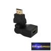 HDMI átalakító , adapter HDMI dugó - HDMI aljzat forgatható és dönthető