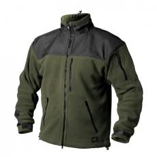 HELIKON-TEX Classic Army fleece megerősített bunda, fekete-olívzöld 300g/m2