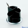 HELIT Forgatható írószertartó fekete ezüst színű