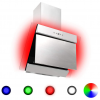 HelloShop Rozsdamentes acél és edzett üveg RGB páraelszívó LED-del 60 cm - Ezüst parcel - parcel  munkanap