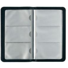 Herlitz Herlitz - Névjegykártyatartó műbőr, fekete, 96 kártyához
