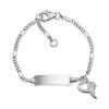 Herzengel BNAME01H gravírozható szív angyal karkötő