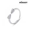 Hûggot Egyptian Hûggot állítható 925 sterling ezüst gyűrű cirkóniával