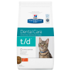 Hill's Prescription Diet t/d Dental Care csirke macskatáp - 1,5 kg