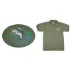 Hímzett galléros póló halas minta, zöld L (S-4XL)