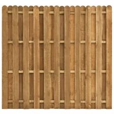 Hit & miss stílusú fenyőfa kerítéspanel 180 x 170 cm kerti dekoráció
