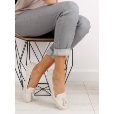 HLFCollection Női műbőr utcai sportos cipő (3147), bézs