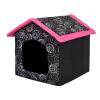 Hobbydog Szivacs kutyaház - fekete, rózsaszín