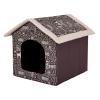 Hobbydog Szivacs kutyaház - feliratos, barna