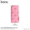 Hoco power bank / külső akkumulátor 10000mAh Apple készülékekhez - rózsaszín esernyők