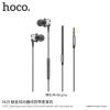 Hoco univerzális fülhallgató jack konektorral Apple készülékekhez - fém szürke