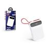 Hoco Univerzális hordozható, asztali akkumulátor töltő - HOCO J40 Lightning Power Bank - USB+microUSB+Type-C - 10.000 mAh - white